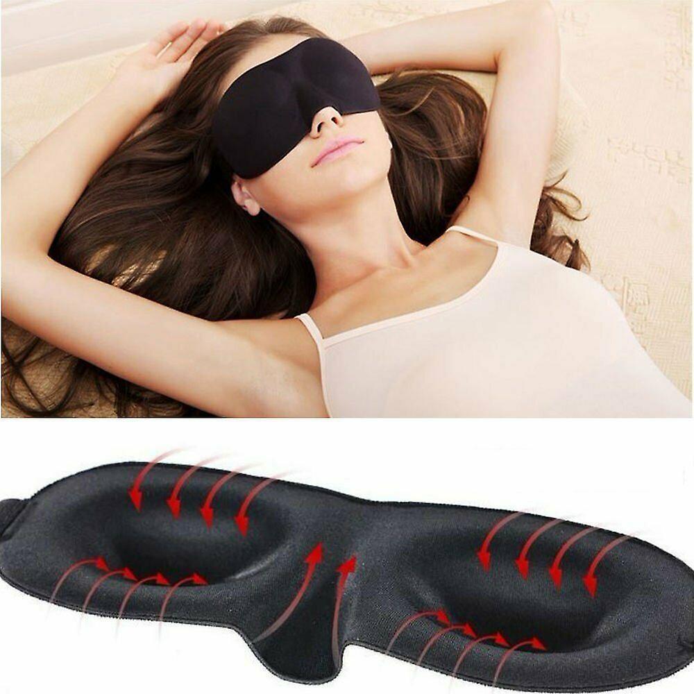 3D skum formet øye maske bind for øynene dekke & ørepropper-reise sett
