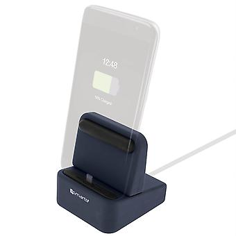4Smarts Wiredock, Charge Dock, - Lightning, USB Type-C and Micro-USB, Dark Blue