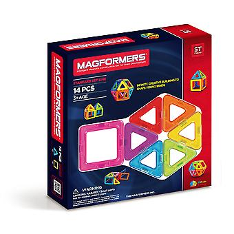 Magformers 14 PCS Set Magnetic Construction and Building Toy
