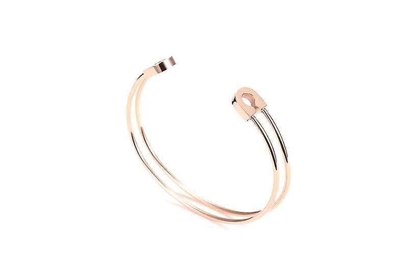 Double Open Keep You Safe Bangle Bracelet