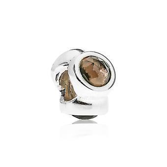Pandora luce naturale argento & quarzo fumè fascino 790351SQ