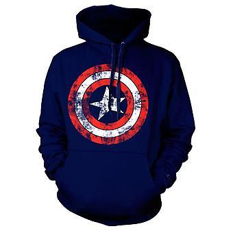 Captain America Distressed Shield Hoodie