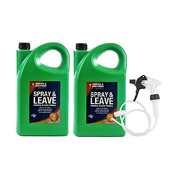 Spray & Leave Spear & Jackson 2 X 5L Ready To Use + Long Hose Trigger