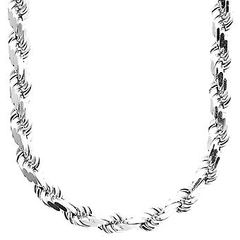 Livre sterling 925 Silver Cord Chain - HOLLOW ROPE 8mm