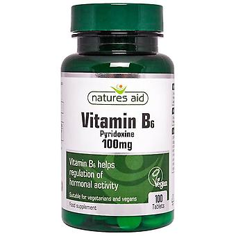 Nature's Aid Vitamin B6 (High Potency) 100mg Tablets 100 (11420)