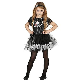 Filles Miss Squelette Halloween Fancy Dress Costume