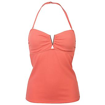 SoulCal Womens V Tankini Top Tie Fastening Swimwear