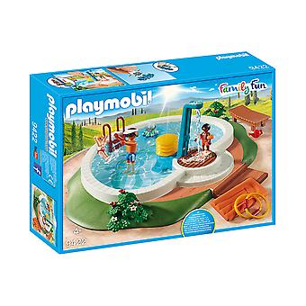 Playmobil 9422 Family Fun Swimming Pool With Functioning Shower Playset