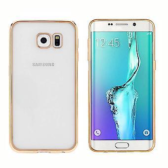 Couverture arrière Clear Bumper look pour Samsung S6 Edge Plus Gold