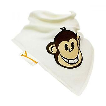 Grädde funky monkey bandana bib