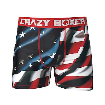 American Flag Patriotic Men's Boxer Briefs
