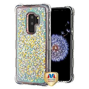 MYBAT roze sterren TUFF Quicksand glitter Lite Hybrid Protector cover voor Galaxy S9 plus