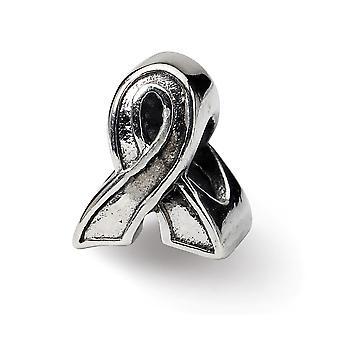 925 Sterling Silber poliert Antike Finish Reflexionen Bewusstsein Band Perle Charme