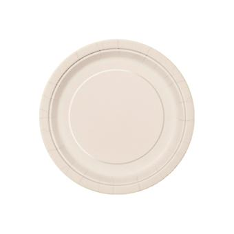 SALE - 8 Midi 'Ivory' Paper Plates | Party Tableware Supplies