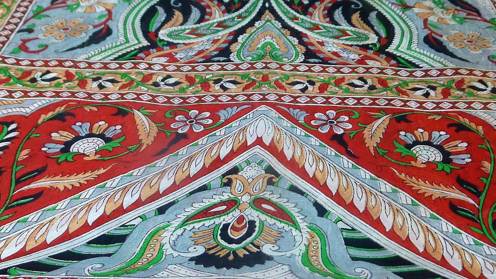 Mulberry Silk Traditional Long Scarf Sakhar Black by Pashmina & Silk