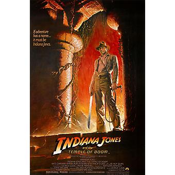 Indiana Jones & The Temple Of Doom (Adv Reprint) (1984) Reprint Cinema Poster