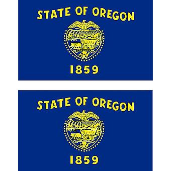 2 X Sticker Sticker Car Moto Vinyl Macbook Flag USA Americain Oregon