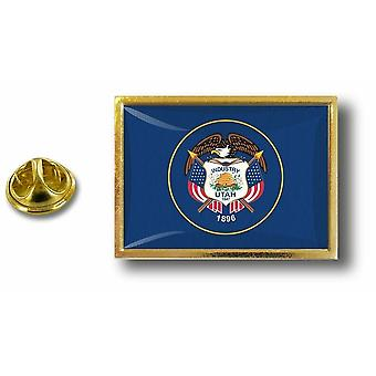 Pins Pin Badge Pin's Metal  Avec Pince Papillon Drapeau Etats USA Utah