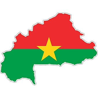 Sticker Sticker Adhesif Vinyl Car Flag Card Burkina Faso