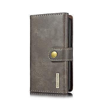 Dg. MING iPhone 11 Pro Split Leather Wallet Case-grey