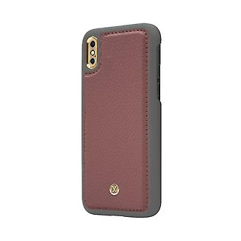 Marvêlle iPhone X/Xs Magnetic Case Dark Pink Chic