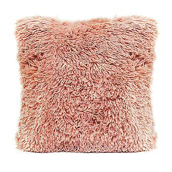 Pink Faux Fur Pillow