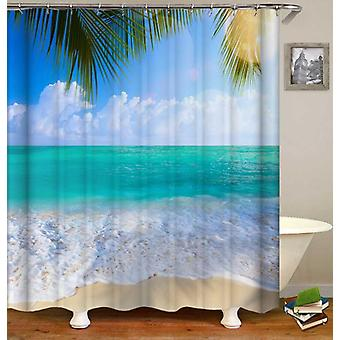 Peacefully Turquoise Beach Shower Curtain