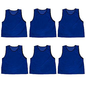 6-pack Adult Scrimmage Pinnies, Azul Oscuro