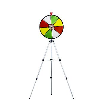 "16"" Color Dry Wheel Prize Wheel w/ Floor Stand"