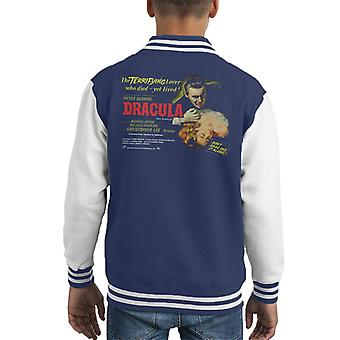 Hammer Horror Films Dracula Terrifying Lover Kid's Varsity Jacket