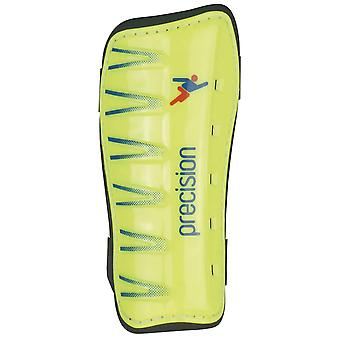 Precision Training Football Soccer Slip In Shinguard Shinpad Guard Yellow/Black