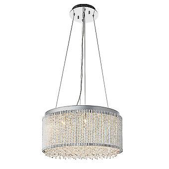 Endon Galina 12 ljus hängande ljus krom plåt & klar kristall 81981