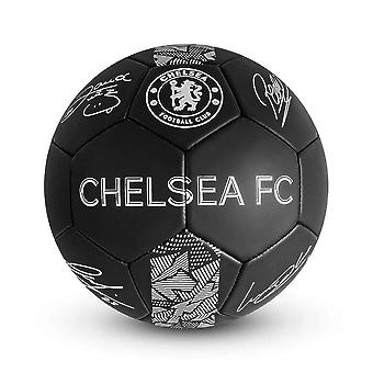 Chelsea FC Phantom Signature Team Merchandise Football Soccer Ball Black