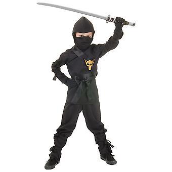Ninja Black Fox Assassin Stealth Japanese Asian Warrior Book Week Boys Costume