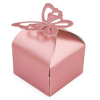 TRIXES 50 Pcs casamento favor borboleta caixas decoração de festas de aniversário nupcial
