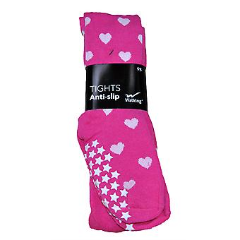 Sock pants anti-halk pink with hearts