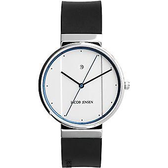 Relógio analógico de Jacob Jensen Unisex quartzo com borracha cinta (nova série) artigo no. 750