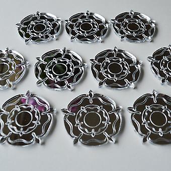 Tudor Rose Mini Craft Größe Acryl Spiegel (10Pk)