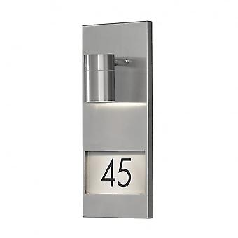 Konstsmide Modena - Stainless Steel House Number Wall Light