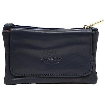 Ladies / Womens Small / Handy Soft Leather Coin / Money Holder / Purse - Black
