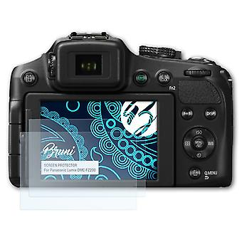 Bruni 2x Screen Protector compatible with Panasonic Lumix DMC-FZ200 Protective Film