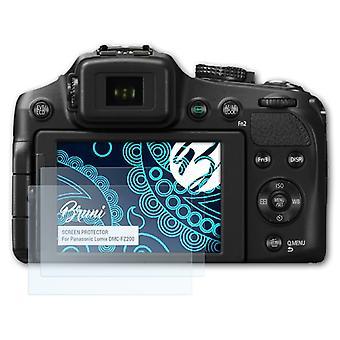 Bruni 2x näytönsuoja yhteensopiva Panasonic Lumix DMC-FZ200 suojaava kalvo