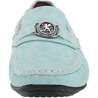 Stacy Adams Mens CYD Leather Closed Toe Slip On Shoes, Light Aqua, Size 8.5