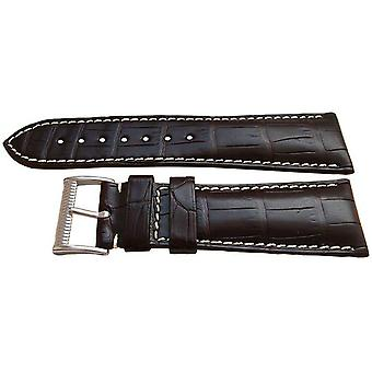 Authentic longines watch strap 25mm brown alligator