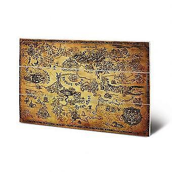 The Legend Of Zelda Wood Print Map