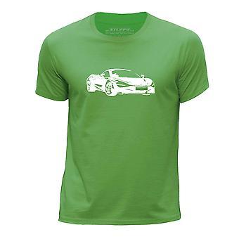 STUFF4 Boy's Round Neck T-Shirt/Stencil Car Art / 720S/Green
