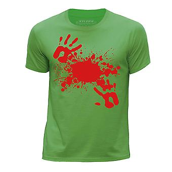 STUFF4 Boy's Round Neck T-Shirt/Zombie Attack / Blood/Green