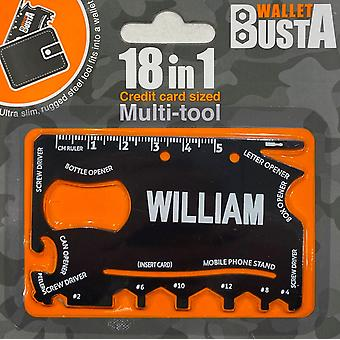 Multitool Multitool WILLIAM kredittkort debetkort navn
