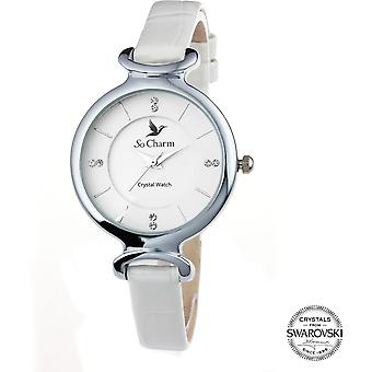 Bekijk so charm horloges MF295-BLANC - Dameshorloge