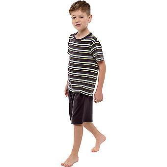 Tom Franks Kinder/Kinder Jersey gestreift kurze Pyjama Set